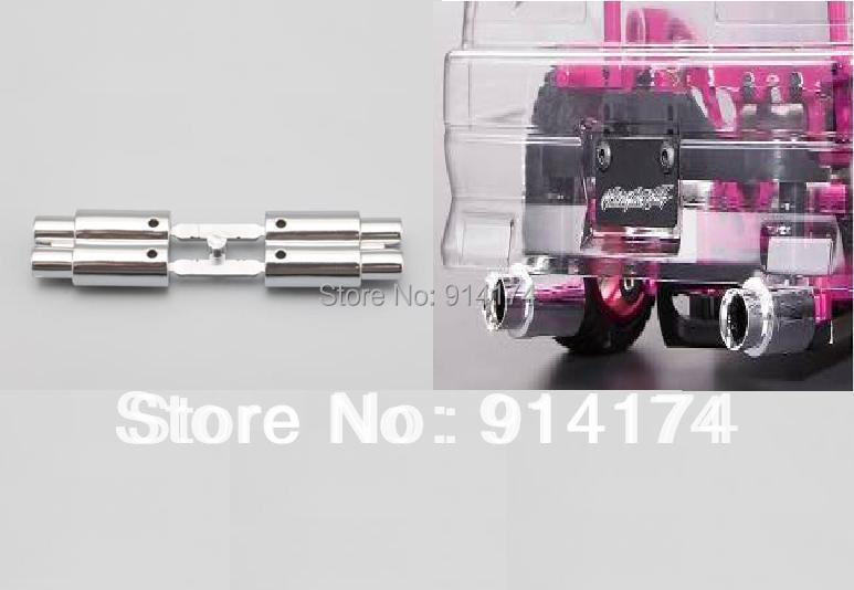 YUKALA 1/10 1/8 RC Car Accessories R/c Car  Parts Twin Escape-pipe / Twin Vent-pipe/ Twin Exhaust For 1/10 RC Car