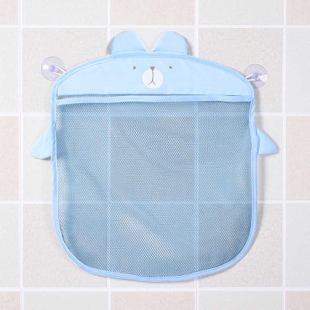 Polyester Transparent Cartoon Bad Saugnapf Hängen Lagerung Mesh Tasche Spielzeug Kosmetik Organizer Korb