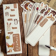 30pcs/lot Cute Kawaii Animal Paper Bookmark Vintage Japanese Style Message Cards Book Marks for Kids School Supplies Stationery(China)