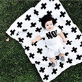 baby sleeping bag Baby Blanket Black White Cute Rabbit Swan Cross Knitted Plaid For Bed Sofa Cobertores Mantas BedSpread