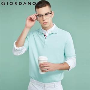 Image 4 - Giordano Men Polo Shirt Men Pique Fabric Slim Fit Short Sleeves Contrast Color Polo Men Shirt Smooth Durable Camisa Polo