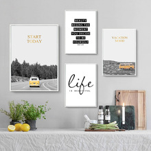 Nordic Minimalist Poster And Print Canvas Landscape Wall Art Quote Pictures Posters Prints Unframed