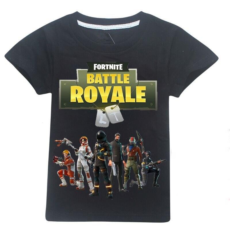 100% cotton Summer T-shirt printing Fortnite Boy T-shirts Sports wind Cartoon Tops Boys children clothes Gaming Boy Clothing