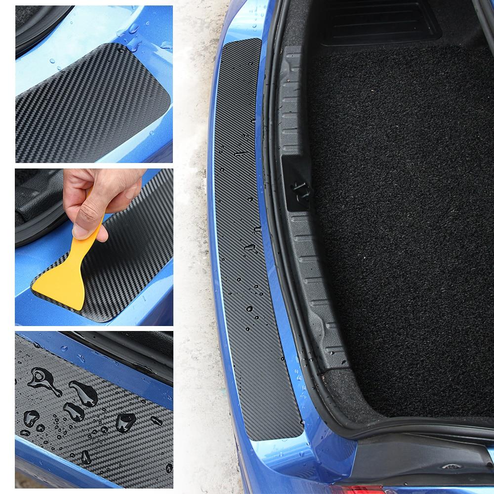 Universal Car Trunk Rear Guard Bumper Plate Sticker For KIA RIO Ford Focus Hyundai IX35
