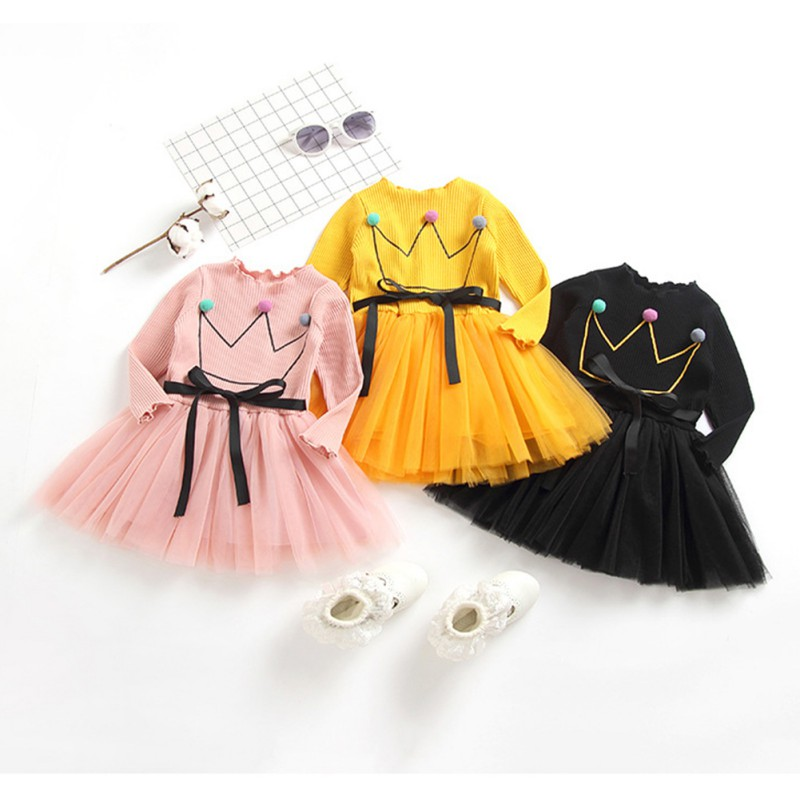 New Baby Girls Dress Autumn Children Clothing Long Sleeve Toddler Princess Dress Outfits Clothes стоимость