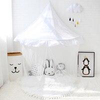 キッズミニテントゲームルーム子供純白キャノピー用ベビーベッドビッグサイズ子供劇場用女の子赤ちゃんルーム装飾読書コーナ