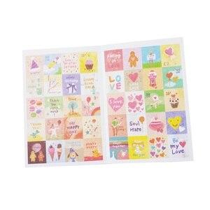 Image 3 - 30packs/lot Vintage Folding Briefmarken Aufkleber DIY Multifunktions aufkleber Romantische label home Dekoration Verschiedene stile großhandel