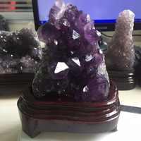 1.18 kg Purply Naturale Chiaro Ametista Specimen feng shui Cristallo Di Quarzo Cluster regali di nozze souvenir minerali cristalli