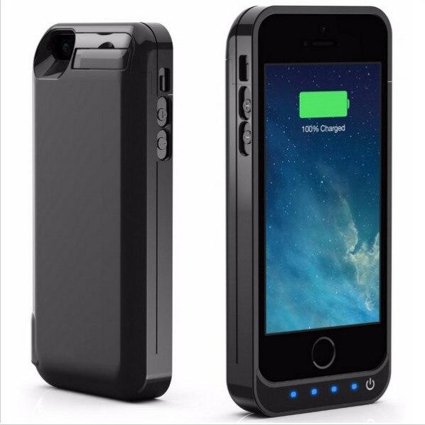 imágenes para Nuevo para el iphone 5c/5 s/5 se clip trasero batería de mayor capacidad de 4200 con el USB de nuevo clip de la batería de energía móvil