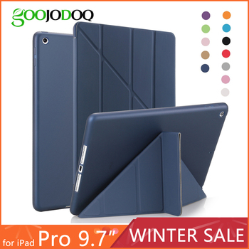For iPad Pro 9.7 Case,Smart Cover with Silicone TPU Soft Back Multi-Fold Stand Tablets Case for iPad Pro 9.7 inch 2016 Coque