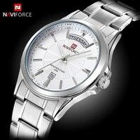NAVIFORCE Mens Watches Top Brand Luxury Quartz Men Wristwatch Business Simple Male Clock Date Display Full