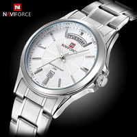 NAVIFORCE Mens Watches Top Brand Luxury Quartz Men Wristwatch Business Simple Male Clock Date Display Full
