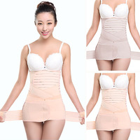 2017 New Maternity Corset Belt Abdomen Waist Belt Gauze Maternity Binding Postpartum Supplies Bodysuit Pregnant Panties 3pcs/set