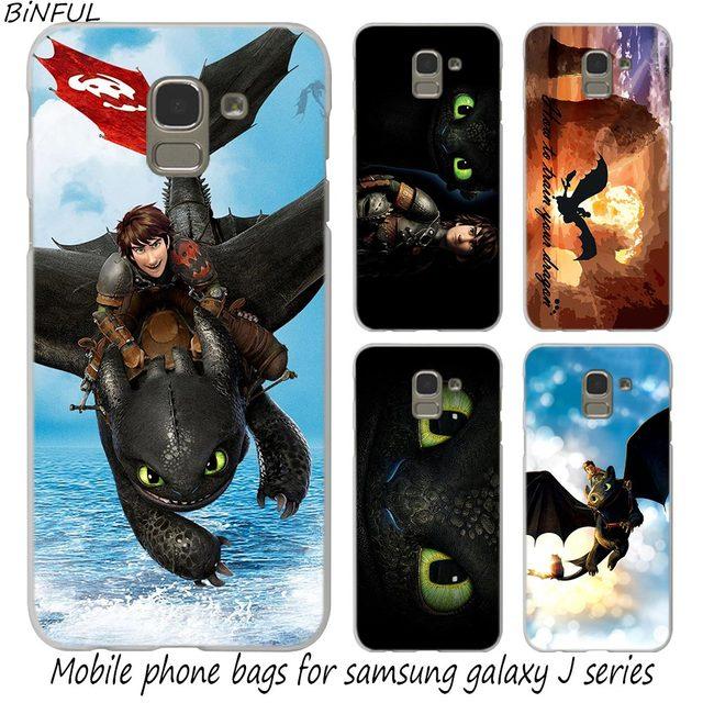 Binful Como treinar O Seu Dragão capa Samsung Galaxy J1 J3 J5 J7 2016 2017 UE J4 J6 J8 2018 NÚCLEO Pró 2018 J7 J2 Max DUO Plus