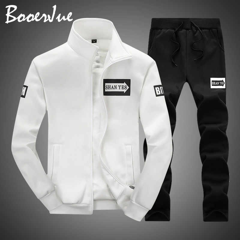 Suits Men Plus Size Hoodies Sweatshirts Sportswears Men Fashion Two Pieces Sets Casual Tracksuit Male 2019 Sweatshirt+Sweatpants