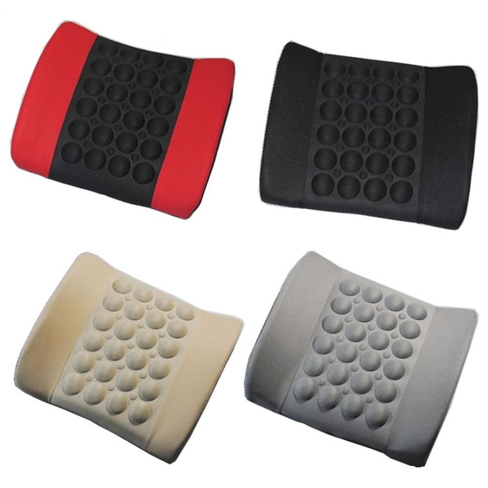 Car Lumbar Pillow Lumbar Pad Electric Massage Lumbar Cloth Cover Massage Creative Personality Auto Supplies Seat Supports     - title=