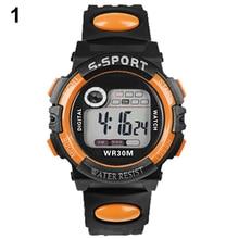 Унисекс цифровой электроники светодиодный кварц Сигнализация день дата резиновые спортивные часы для человека женщина 5L32