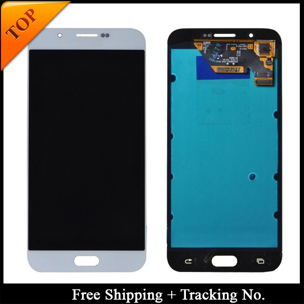 Free shipping 100 tested super amoled for samsung a8 2015 lcd a800 a8 white publicscrutiny Gallery