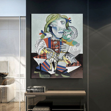 Pablo Picasso Maya To The Doll Canvas Painting Print Living Room Home Decoration Artwork Modern Wall Art Oil Painting Posters HD