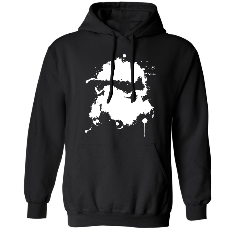 COOLMIND Thick cotton blend star wars print men hoodies with hat casual darth vader print sweatshirts