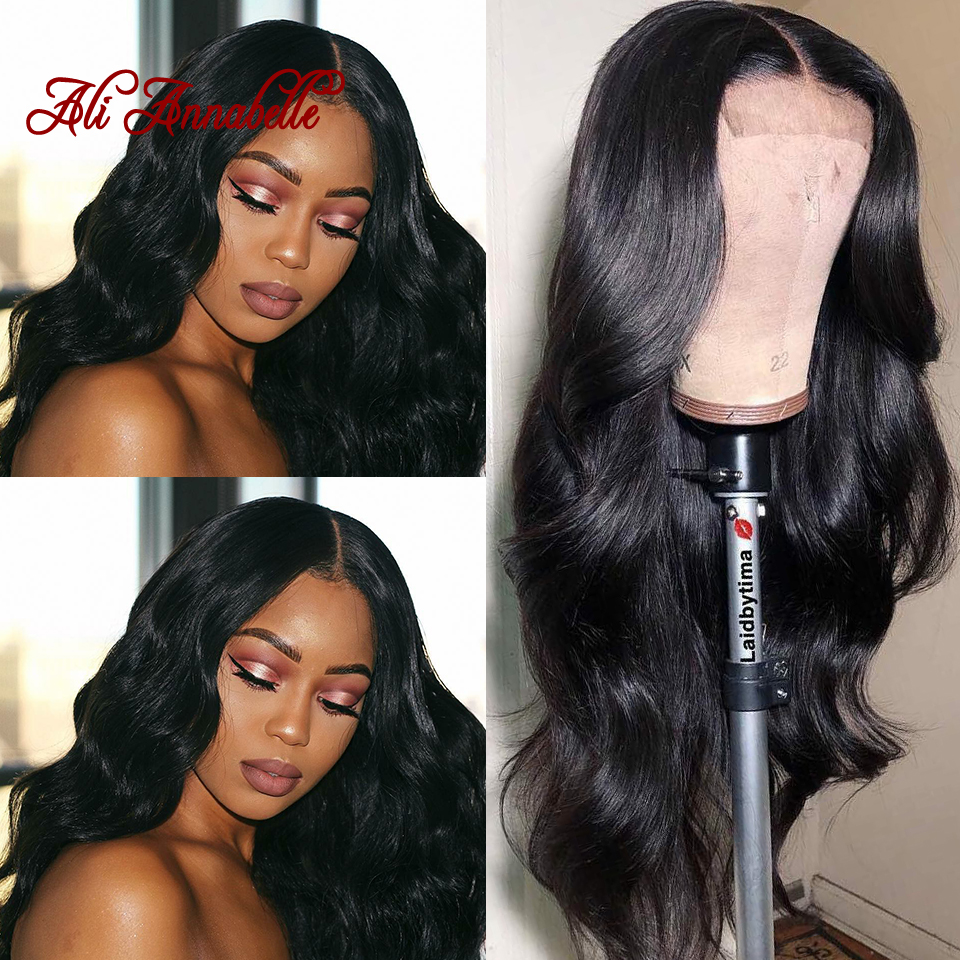 Malaysian Body Wave 360 Lace Front Human Hair Wigs With Pre Plucked Hairline Remy Perruque Lace