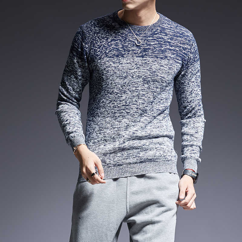 2019 New Fashion Brand Sweaters Man Pullovers O-Neck Slim Fit Jumpers Knitred Warm Thick Winter Korean Style Casual Mens Clothes