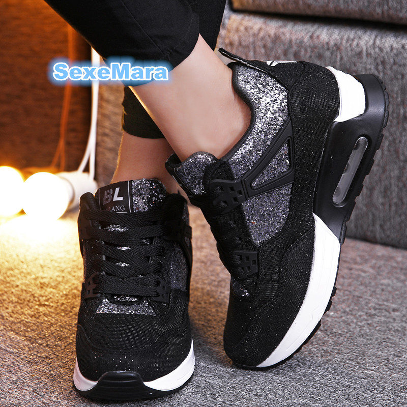 new sneakers women Winter air running shoes women Thicken to increase height sport shoes woman zapatos de mujer Bare boots women