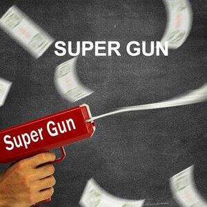 Image 2 - TUKATO Far Piovere Soldi Pistola Rosso Cash Cannone Super Pistola Giocattoli 100PCS Fatture Party Game Divertimento Allaria Aperta di Modo regalo di Pistola Giocattoli
