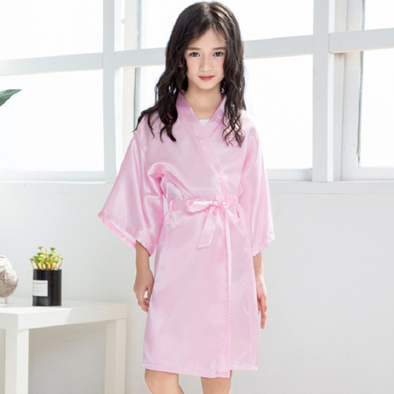 6ab858e07f2c Flower Girl Kids Wedding Stain Robes Letters NightGown Monogrammed ...