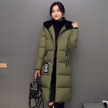New Arrival Solid New 2016 Winter Jacket Women Long Casual Fashion Parka Female Hooded Coat Plus Size Cold Warm Outwear