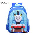 Children bags backpack toddler Train Thomas School Bag for girls boys baby kids orthopedic Blue 3D Cartoon Cute rucksack Mochila