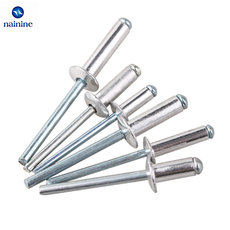 20/50Pcs M2.4 M3.2 M4 GB12618 Aluminium Round Break Mandrel Blind Rivets Nail Pop Rivets For Furniture Car Aircraft HW021