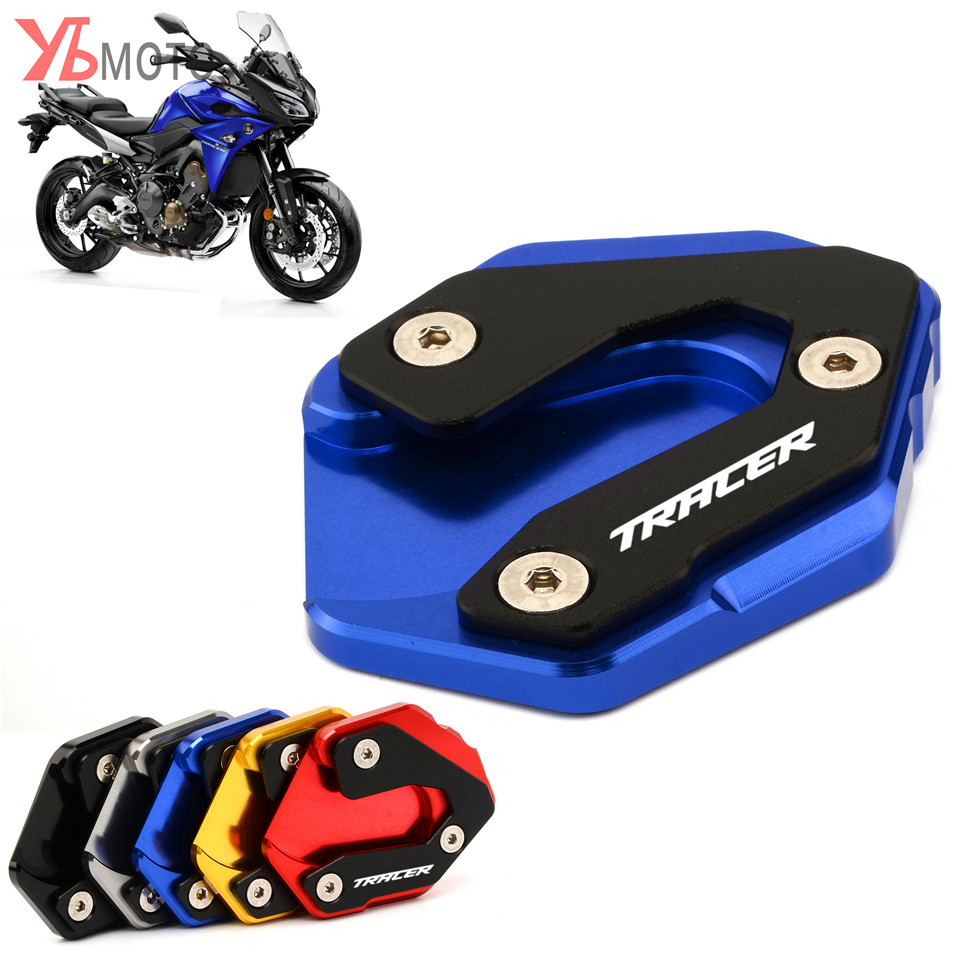 High Quality Accessories For Yamaha MT09 Tracer MT-09 Tracer 2015 2016 2017 Motorcycle Kickstand Kick Stand Plate With Logo