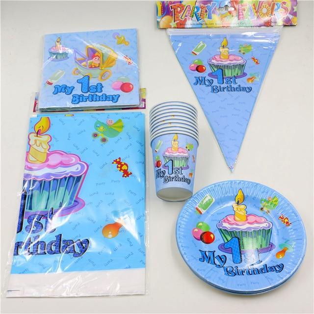62pcs\\lot Decoration Tablecloth Boys Girls Kids Favors Napkins 1st Birthday Party Paper Plates Cups  sc 1 st  AliExpress.com & 62pcs\\lot Decoration Tablecloth Boys Girls Kids Favors Napkins 1st ...