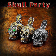 BEIER Cool Men's Gothic Carving Pendant Necklace  Stainless Steel High Quality Detail Biker Skull Jewelry  for man BP8-256 beier stainless steel biker jason voorhees hockey halloween mask pendant necklace with red colour antique cool jewelry bp8 362