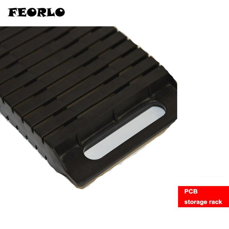 FEORLO High quality ESD safe SMD IC Organizer Box 25 bins anti-statics Component Box PCB storage rack