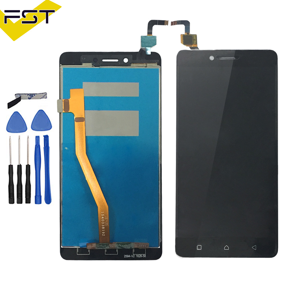 Black/White/Gold 100% New Touch Screen Digitizer Glass + LCD Display  Assembly For Lenovo K6 Note K53a48 LCD Glass Panel Sensor-in Mobile Phone  LCDs