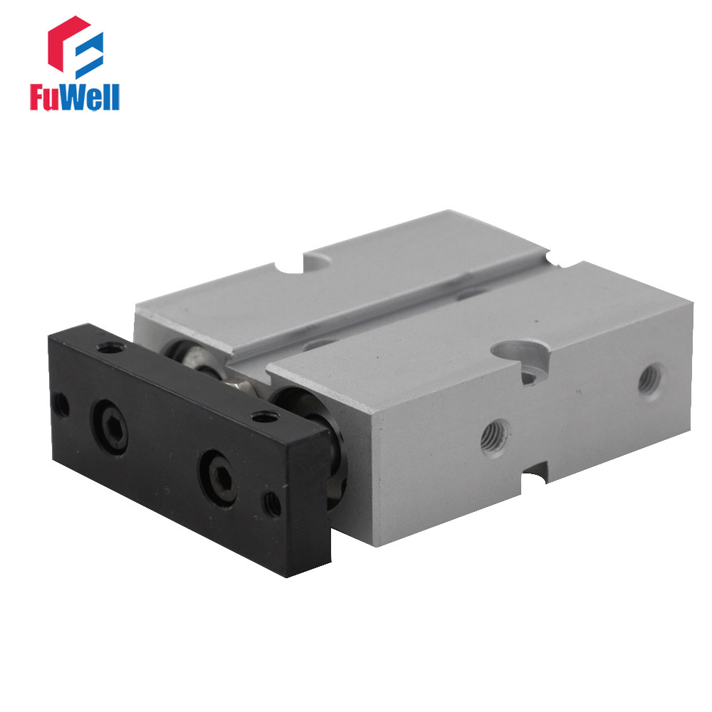Dual Action TN Type Pneumatic Air Cylinder Double Shaft Rod 16mm Bore 5/10/15/20/25/30/35/40/45/50/60mm Stroke Pneumatic Valve kit engineering pneumatic air driven mixer motor 0 6hp 1400rpm 16mm od shaft