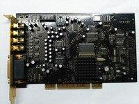 Используется, оригинальный креативный X-ray Fi Xtreme музыка SB0460 звуковая карта 7,1 soundcard DTS декодирование, позолоченный HIFI энтузиастов необходимо