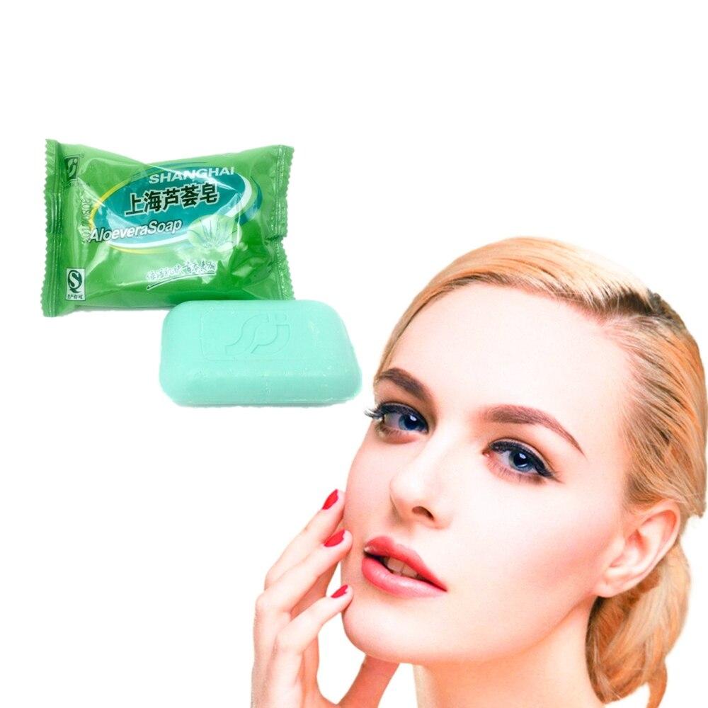 2019 Newest ALOEVERA Soap Whitening Shrink Pores Oil-control Nourishing Moisturizing Skin Care Anti-wrinkle