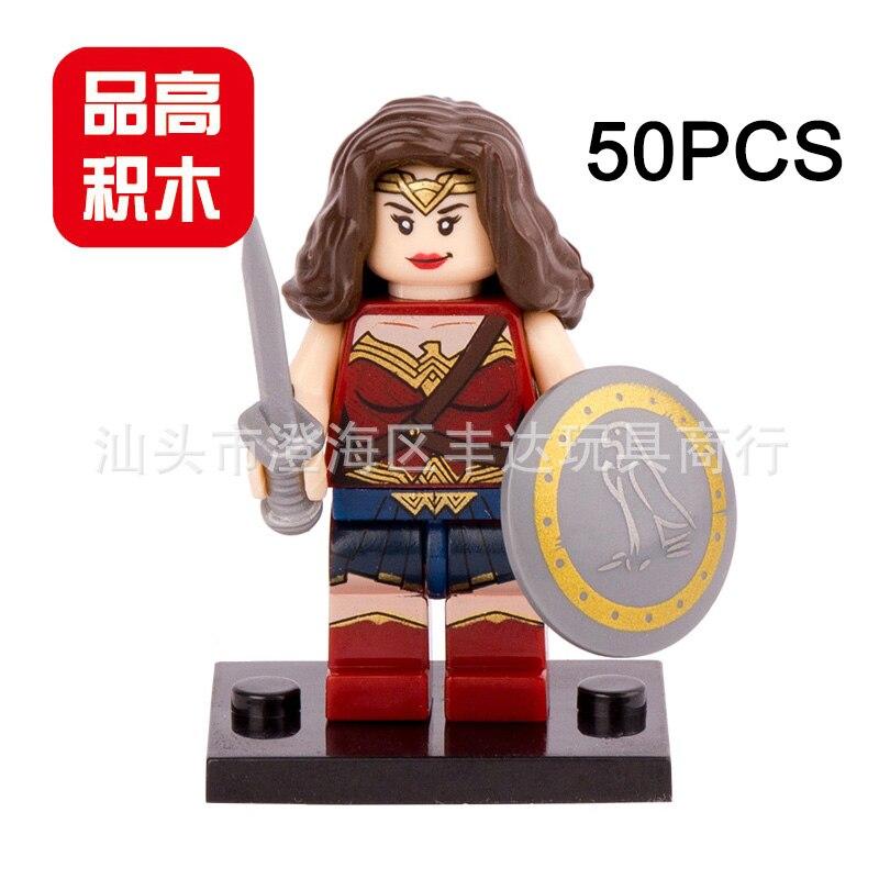 Pogo Lepin Wholesale 50PCS PG059 Wonder Woman Avengers Marvel Super Heroes Building Blocks Bricks Toys Compatible Legoe lepin pogo bela superman wonder woman spider man wolverine super heroes marvel building blocks bricks compatible legoe toys