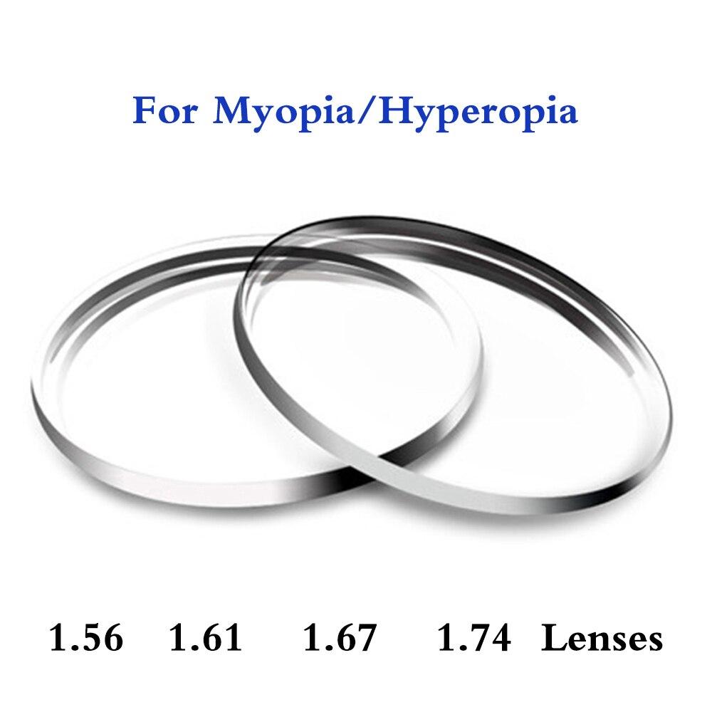 1.56 1.61 1.67 1.74 indice verres de Prescription lentilles hommes femmes asphérique personnalisé myopie hyperopie lunettes lentilles