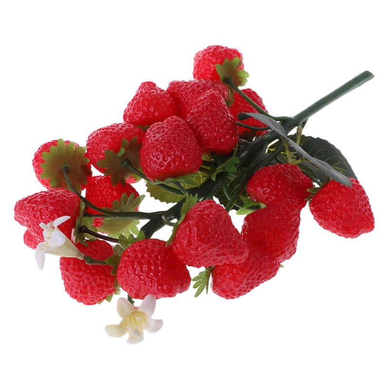Bunch Lifelike Artificial Fruits Plastic Fake Fruit Food Home Party Decoration