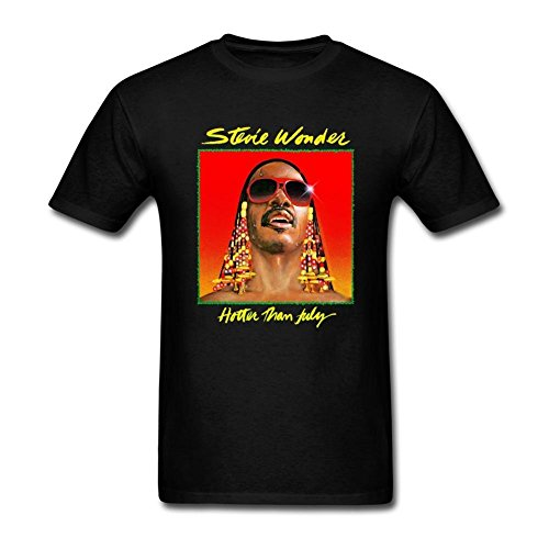 Mens Stevie Wonder Hotter Than July T ShirtMens Tops Cool O Neck T-Shirt Design T Shirts Casual Cool Design Tops