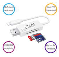USB OTG Lader Kabel Voor iPhone 7 Plus fpr iPad Micro SD SD SDHC TF Kaartlezer voor iPhone 5 5 S 6 6 S 7 Plus 8 X PC Computer