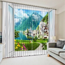 scenic curtains Landscape Scenery Beauty Digital Photo Printing Blackout 3D Curtains for Living Room Bedding