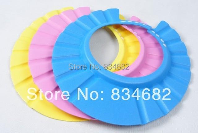 J.G Chen 1Pcs Soft Baby Kids Children Shampoo Bath Shower Cap Adjustable Baby  Shower Hat Baby Shampoo Cap Wash Hair Shield