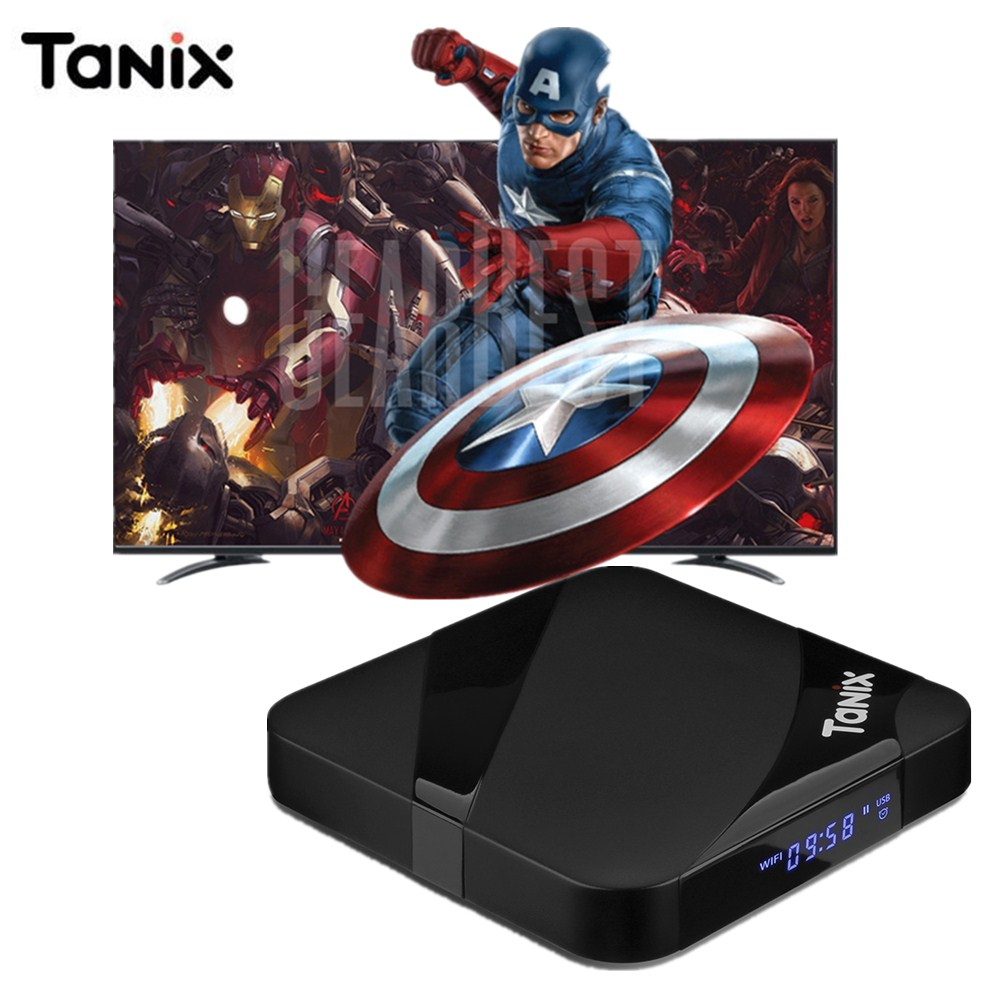 лучшая цена Tanix TX3 Max Smart TV Box Android 7.1 TV Box Bluetooth Amlogic S905W 2GB 16GB 2.4GHz Wi-Fi / 4K / 100Mbps LAN PK TX3 Mini X96W