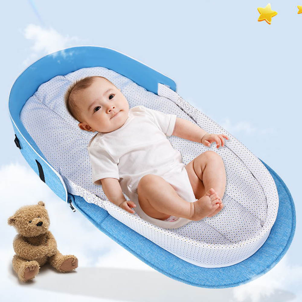 1 pcs Baby Portable Bed Bag Foldable Newborn Travel Crib Carry-on Nest Bed Diaper Bag Bed for Baby1 pcs Baby Portable Bed Bag Foldable Newborn Travel Crib Carry-on Nest Bed Diaper Bag Bed for Baby