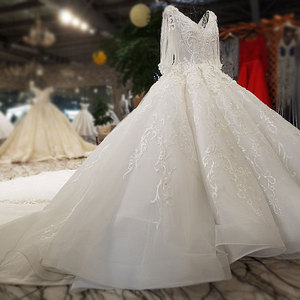 Image 4 - AIJINGYU Wedding Dresses Lace Women Gown Luxury Dubai Couture Moroccan Floral Gowns 2021 Bridal Dress Online Shop